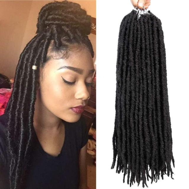 hot selling! 20inch soft dreadlocks crochet braids kanekalon jumbo dread hairstyle ombre synthetic faux locs braiding hair extensions