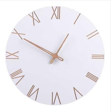 acheter 29 cm style nordique a la mode simple silencieux horloges muralesfor home decor pur blanc type horloge murale quartz design moderne de 34 18 du