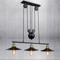 Vintage Pendant Light Novelty Spider Pulley Pendant Lamp