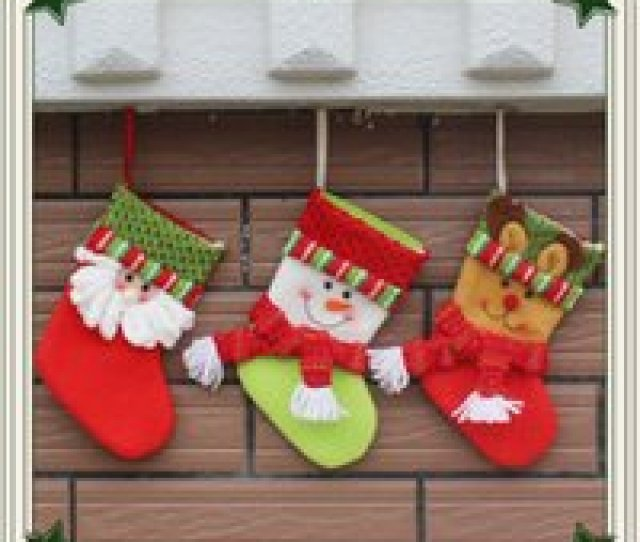 Wholesale Small Christmas Stockings Wholesale For Sale  New Christmas Stockings Santa Claus Hang Small
