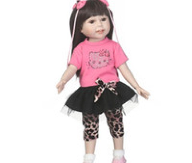 Wholesale Toys Latex Doll For Sale  Inch Long Brown Hair Girl Lifelike Doll Silicone