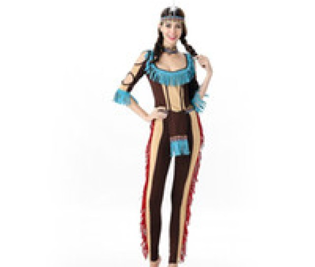 Wholesale Free Sexy Indians For Sale Sexy Indian Cosplay Costume Women Native Fancy Dress Halloween