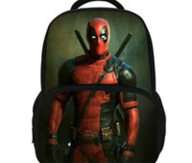 14inch Hot Sale Super Hero Backpack For Teens Boys Deadpool Bag For Children Girls School Bags For Kids Students