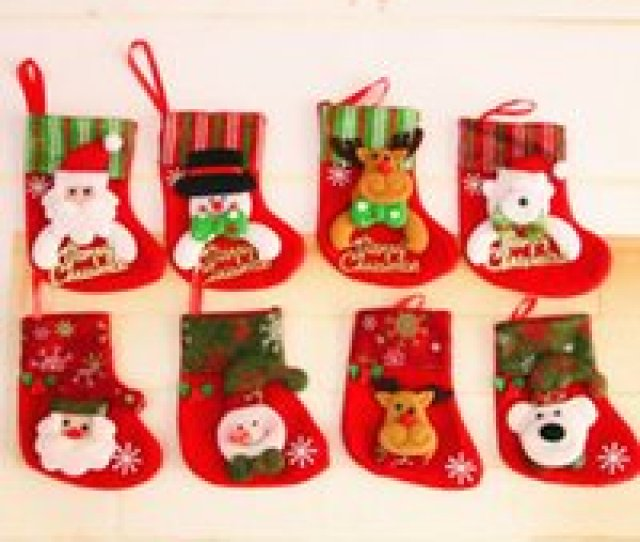 Wholesale Small Christmas Stockings Wholesale For Sale Applique Sequin Christmas Stockings Christmas Decoration Gifts Small
