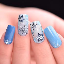 дизайн ногтей снежинки 7