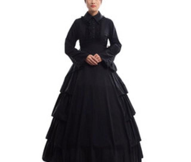 Mardi Gras Ball Gowns  Retro Women Gothic Medieval Flounces Reenactment Costume Dress Vintage Victorian