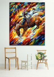 Palette Knife Oil Painting Horseman And Matador Drawing Printed On Canvas For Living Room Bedroom Home Decoration Wall Art