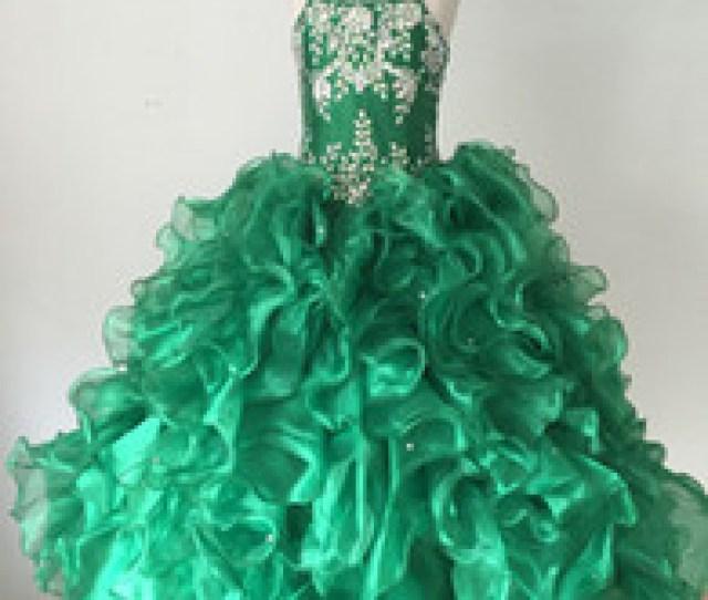 Free Hot Photo Girls Canada Wholesale Girl Dress Luxury Manual Beading Free Shipping Hot Sale