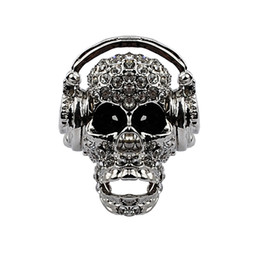 Image result for crystal stretch skull hat ring