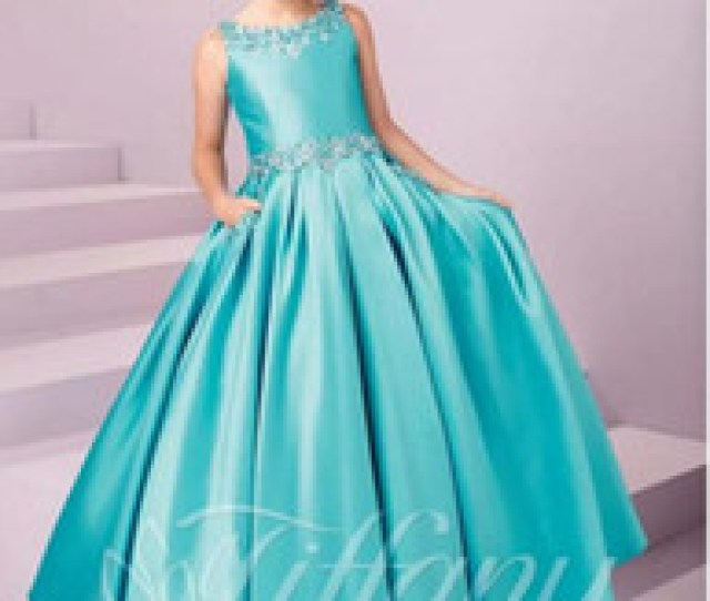 Hot Sales Girls Pageant Kid Formal Wear Dresses Crystals Beaded Princess Floor Length Birthday Gown Lace Up Flower Girls Dress Teens Wear