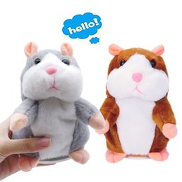 Lovely Talking Hamster Plush Toycute Speaking Talking Sound Record Hamsterkids Giftschristmas Gifts For Children3  9 Inches