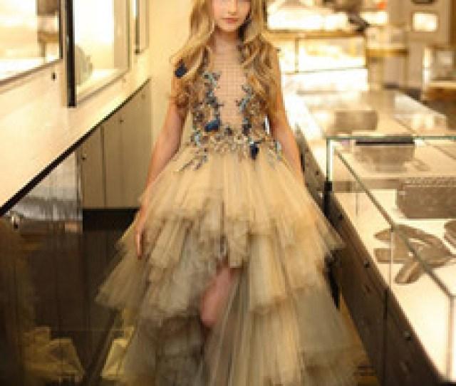 Hot Teens Dresses Canada Hot Sale High Low Beading Flower Girl Dresses Weddings Little Girls
