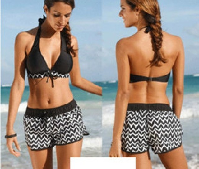 Shortest Bikini Australia Women Swimsuit Female Swimming Suit Push Up Bikini Haltershort Pants