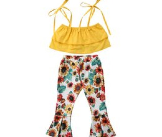 Toddler Kids Baby Girls T Shirt Topsfloral Flare Pants Outfits Clothes Pcs Set Size  T Discount Toddler Boy Clothing T