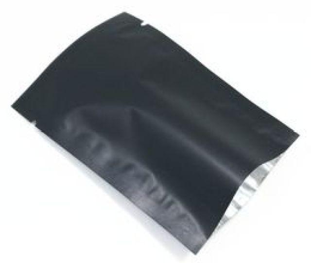 Food Christmas Packing Bag  Pcs Black Matte Open Top Aluminum Foil Packaging Bags Mylar