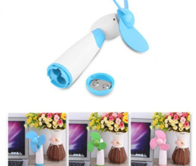 Mini Cooling Fan 1pcs Portable Handheld Mini Cooling Cool Fan Super Mute Two Aa Battery Operated For Home Office Travel Blue Green