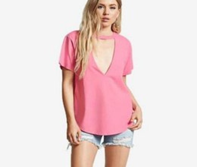 Sexy Teenagers Canada Sexy Low Cut T Shirts Fashion Summer V Neck