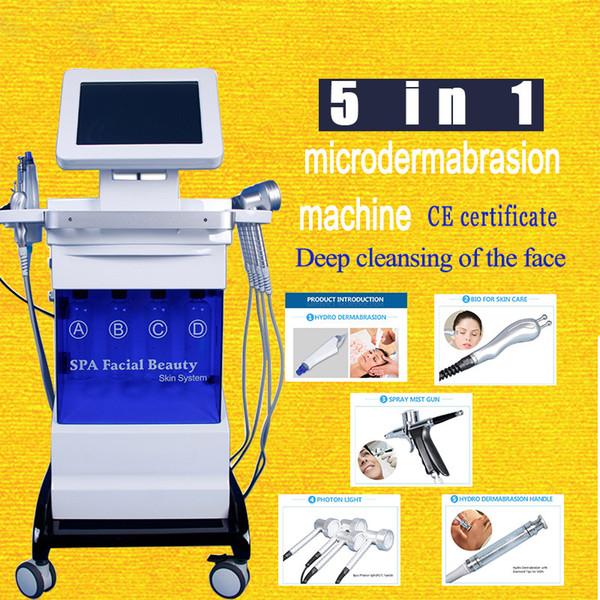 2020 New Hydra Peel Microdermabrasion Hydra Facial Machine Dermabrasion Peeling Equipment Bio Lifting Face Rf Wrinkle Removal Machine