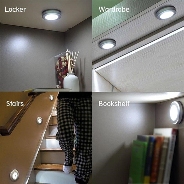 2020 6 Led Wardrobe Light Round Motion Activated Night Light | Basement Stairs In Garage | Deck | Outside | Back | Epoxy Coating | Easy Diy