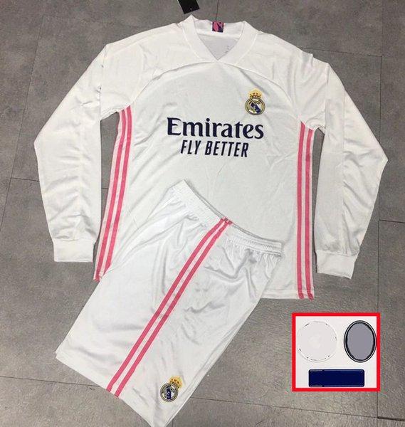2020 Adult Kit Long Sleeve 2020 2021 Soccer Jerseys Real ...