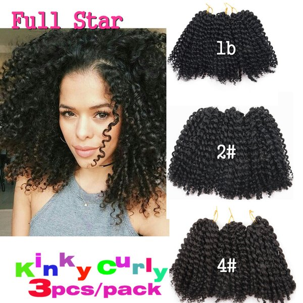 8 10inch Marlybob Crochet Twist Braid Hair Synthetic Ombre