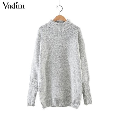 Wholesale Women basic solid warm long turtleneck sweaters long     Wholesale Women basic solid warm long turtleneck sweaters long sleeve  knitted pullover female office wear European casual tops SW1140