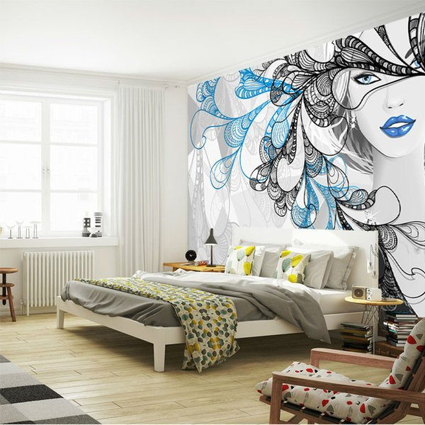 Fantasy Silver Girl Wallpaper Custom Wall Mural 3d Photo Wallpaper Bedroom Beauty Shop Salon Room Decor Living Room Hallway Home Nature Wallpapers