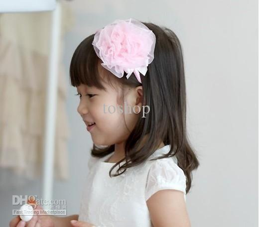 Handmade Pink Flower Headdress South Koreas New Children