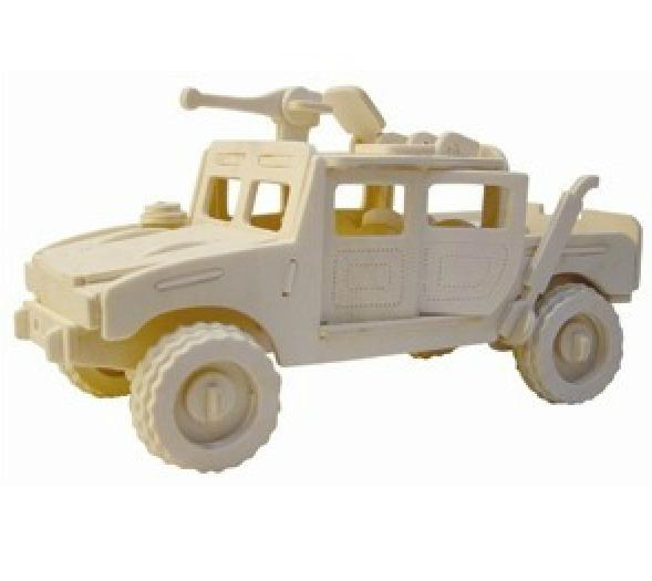 Wooden Toys Hummer Car Model Cars Educational Toy Woodcraft Kit Free ...