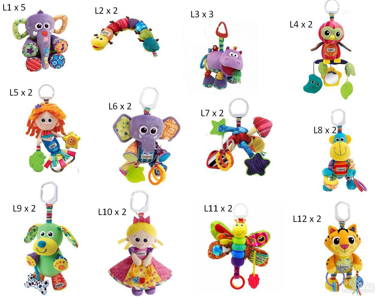 Lamaze Crib Toys With Rattle Teether Infant Early