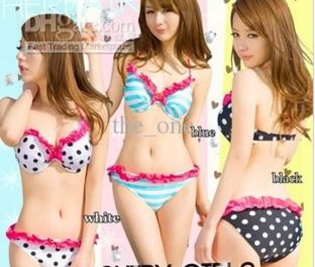 Pretty Sexy Dot Lace Bikini Swimwear For Girlsmixeds M L Pretty Bikini Black Bikini Pink Bikini Online With   Set On The_ones Store Dhgate Com