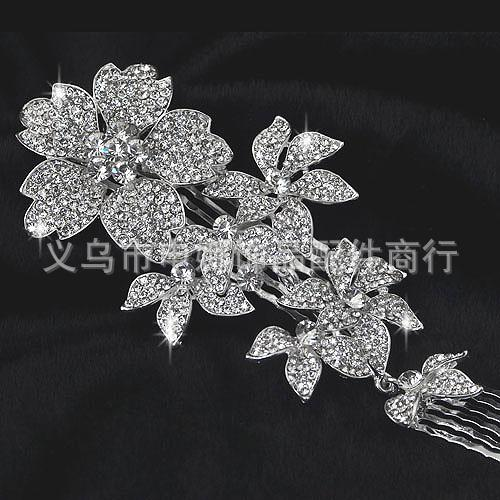 2013 diamond flower pearl bridal comb headpiece flora crystal tiaras hair accessories online with 36 58 piece on goodluck2015 s store dhgate com