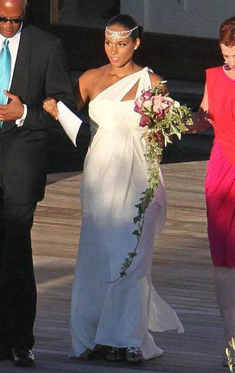 Discount Alicia Keys Grecian Maternity Wedding Dress One