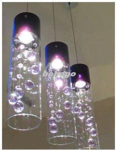 Glass Shade Crystal Ceiling Lighting Pendant Lamp Light X 1 Purple     Glass Shade Crystal Ceiling Lighting Pendant Lamp Light x 1 Purple Clear L26