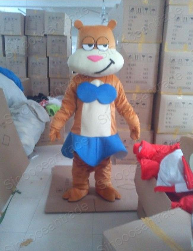 Squirrel Sandy Cheeks Bikini Mascot Costume Outfit Online