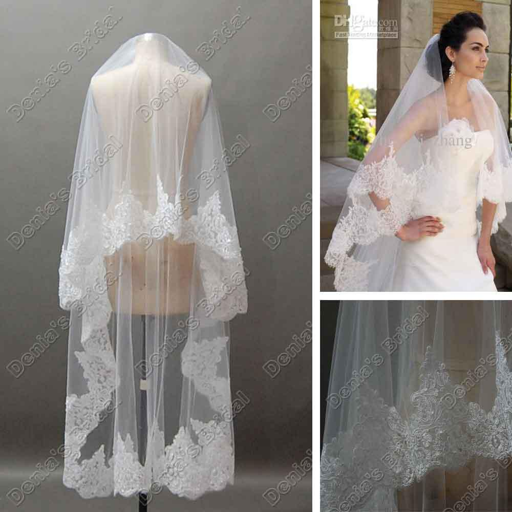 e13b7cf7df51 Ivory Lace Wedding Veils. tulle organza and hand beaded metallic ...