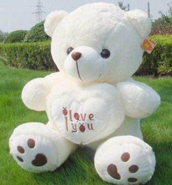 White Color Teddy Bear Cute Stuffed Bear Toys Soft Plush