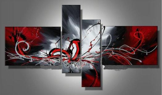 Cheap Paintings For Big Save Hand Painted Hi Q Modern Wall Art Home Decorative Abstract Oil Painting On Canvas Passion Colors Rendering Red Framed