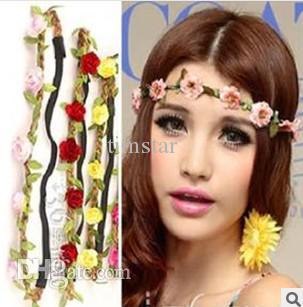 trial order new headwear flower crown floral crown flower headband hair wreath girls hair