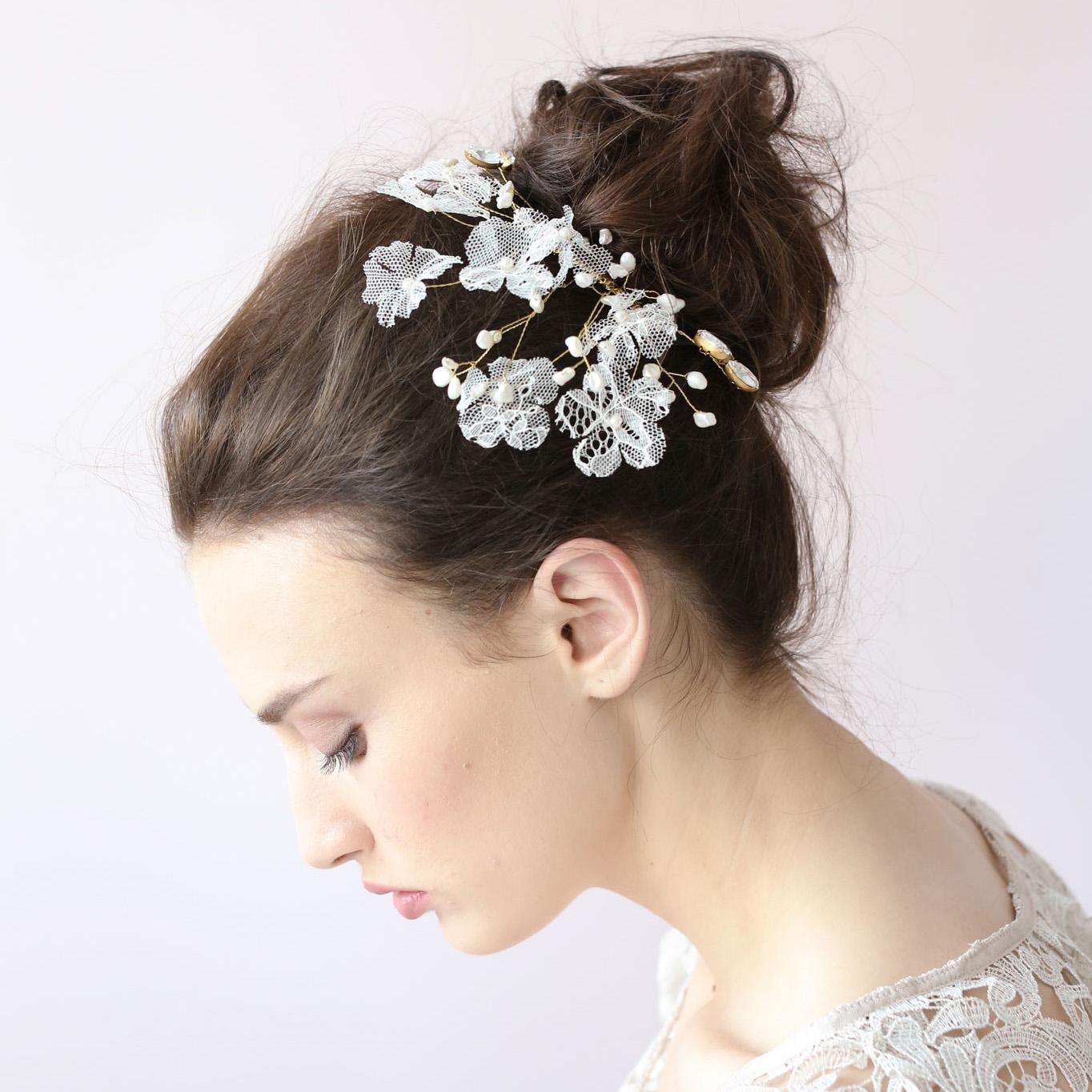 white crystal flower hair clip lace sparkle leaf hair clip hair accessories for wedding headpiece wedding tiaras affordable wedding hair acc