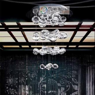 Height 150cm Murano Due Bubble Glass Chandelier Suspension Light     Height 150cm Murano Due Bubble Glass Chandelier Suspension Light Hanging  Light Pendant Lamp Ceiling Lighting Antler Chandeliers Bathroom Chandelier  From