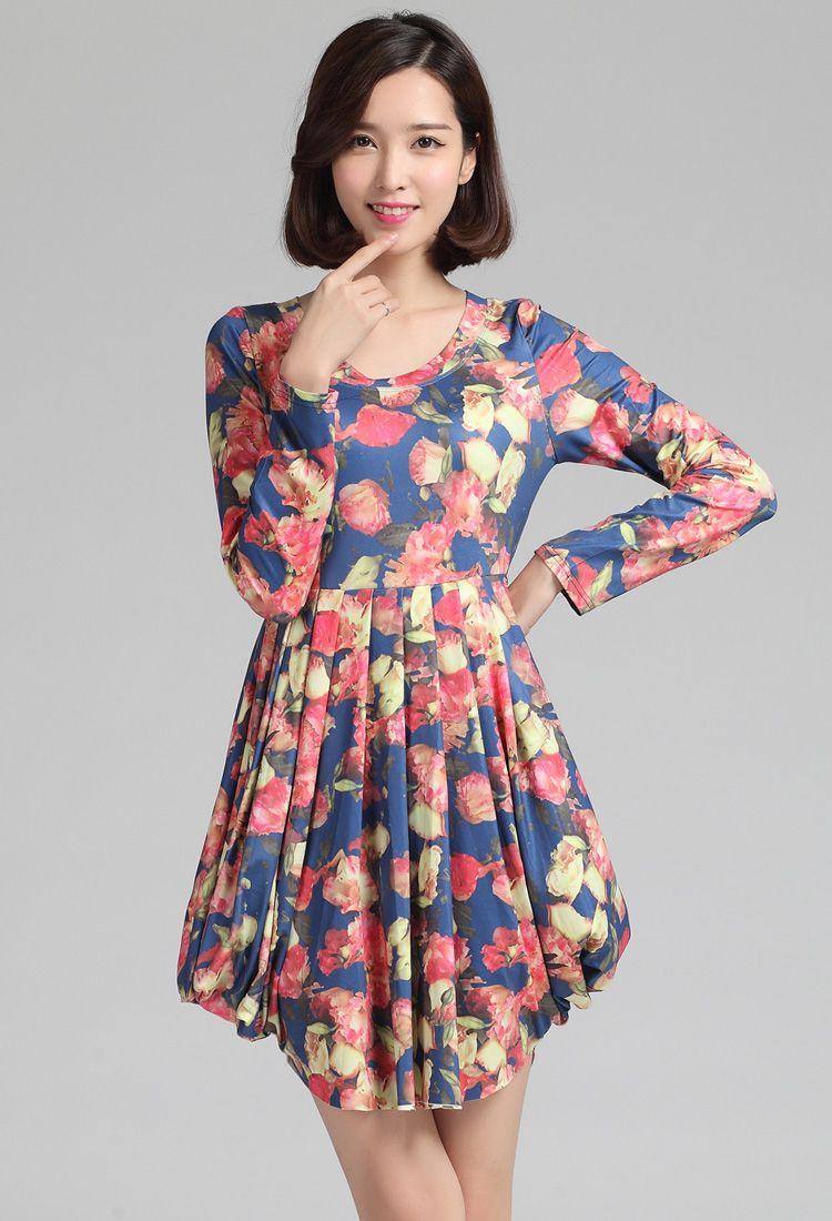 Floral Dress For Women Knee Length
