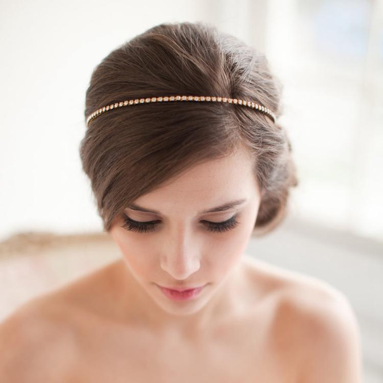 crystal hair loop hair jewelry hair accessory wedding hair jewelry gold pleated headband hair vine wedding headpiece bride hair accessories hair jewelry