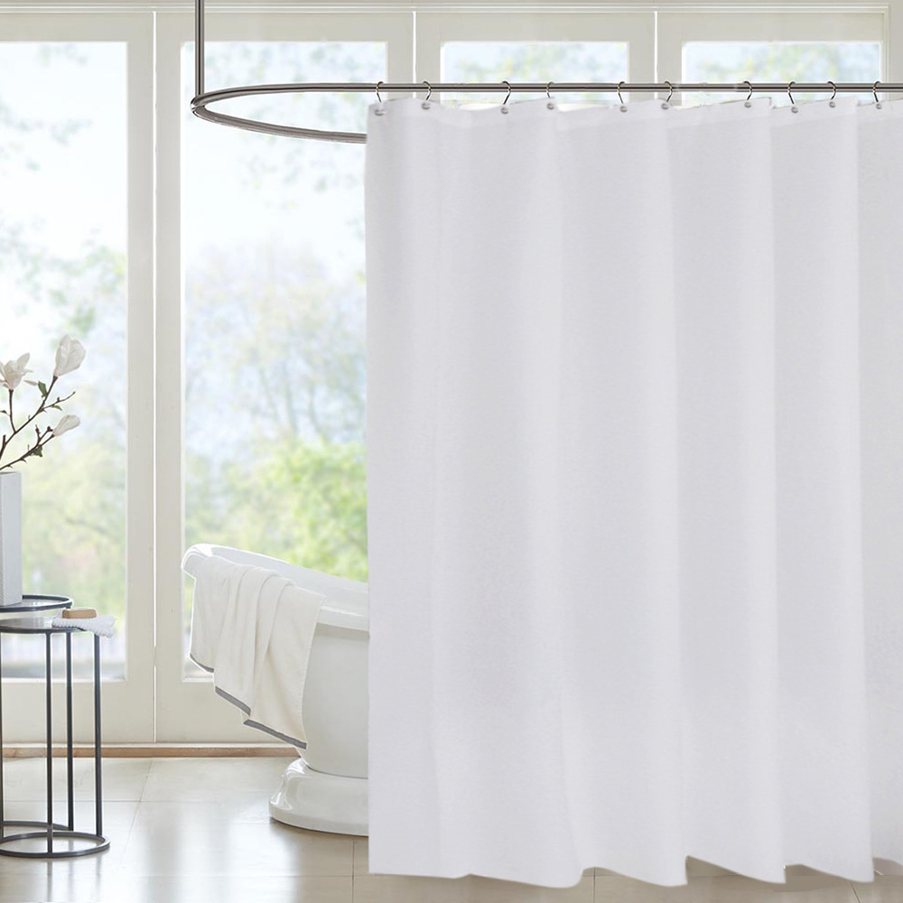 rideau de douche blanc 180cm large