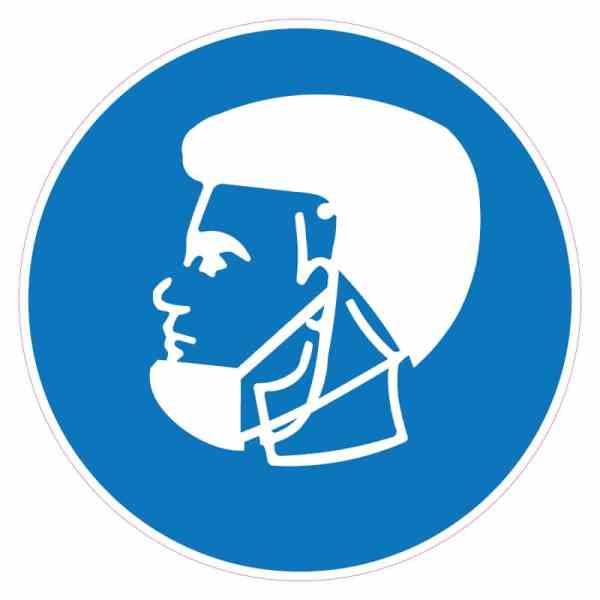 Corona-sticker-baardmasker