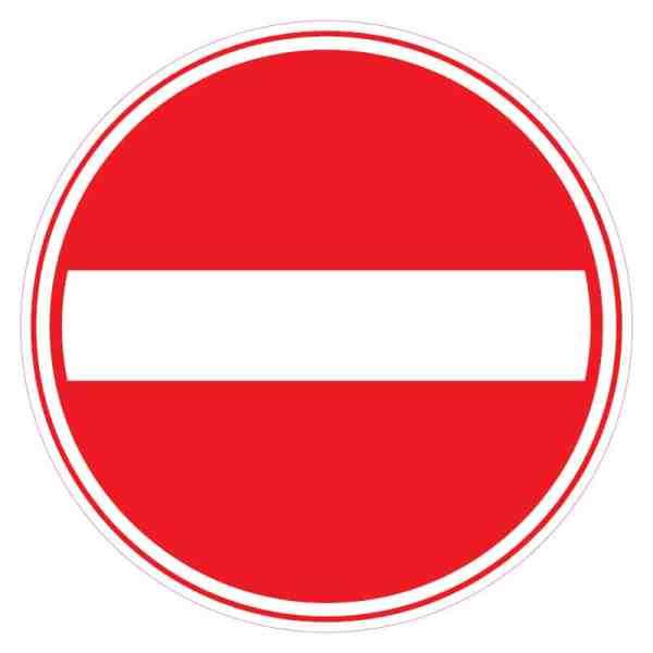 Corona-sticker-geen-toegang-eenrichting