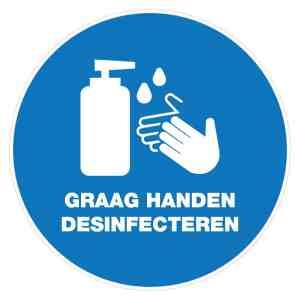 Corona-sticker-handen-desinfecteren