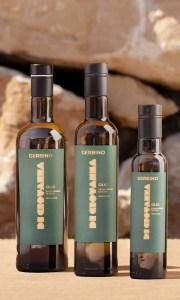 Gerbino Organic Extra Virgin Olive Oil 750 ml, 500 ml, 250 ml bottles