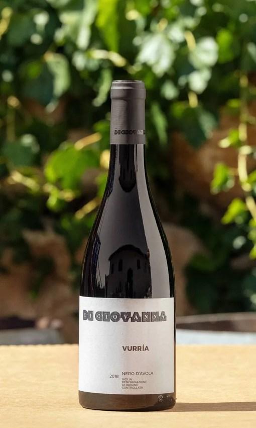 Nero d'Avola Vurria vino rosso siciliano