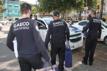 Operação do Gaeco em Mimoso do Sul (Foto: Beto Barbosa)